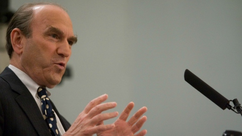 White House Special Envoy for Venezuela Elliott Abrams is considered one of the architects of the Reagan administration's Central America wars as well as the 2003 US invasion of Iraq. (Miller Center/Flickr)